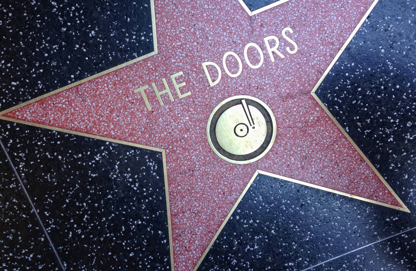 The Doors Hollywood walk of fame star.